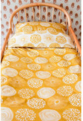 Gele Witlof for kids katoenen junior dekbedovertrek 120x150 cm Sparkle sweet honey