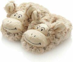 Naturelkleurige Naturel slofjes maat 20 van Wooly Sheep