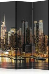 Gele Kamerscherm - Scheidingswand - Vouwscherm - New York at Twilight [Room Dividers] 135x172 - Artgeist Vouwscherm