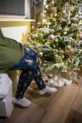 ZUMPREMA Foute kerst legging - Paars Merry Christmas