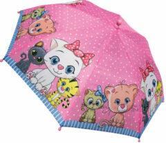 Tom Kinderparaplu Kitten Meisjes 38 Cm Polyester Roze