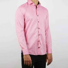 Roze Valenci Heren Overhemd Pink