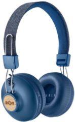 Blauwe The House Of Marley Positive Vibration 2 Wireless Hoofdband Stereofonisch Bedraad/Draadloos Blauw mobiele hoofdtelefoon