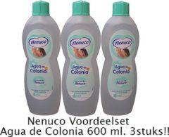 Nenuco Agua de Colonia Baby Haarlotion - 3x 600ml - Voordeelverpakking