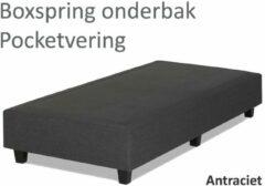Antraciet-grijze Boxspring.nl - Uw Bed Boxspringonderbak Pocketvering, 90 x 200, Antraciet   Losse boxspring   Boxspring bedbodem   Boxspring onderstel   Pocketboxspring   Boxspring zonder matras