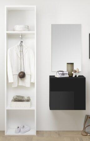 Afbeelding van Pesaro Mobilia Halmeubelset Bonita 3 delig in wit met hoogglans grijs