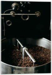 Grijze KuijsFotoprint Plexiglas - Koffiebonenmachine - 40x60cm Foto op Plexiglas (Wanddecoratie op Plexiglas)