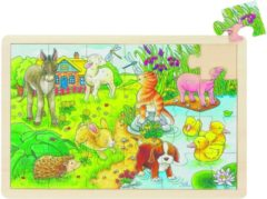 Groene Goki Puzzel: Kleine Jonge Dieren 24-Delig
