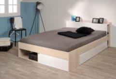 Bett 160 x 200 cm Akazie/ weiss Parisot Most 6