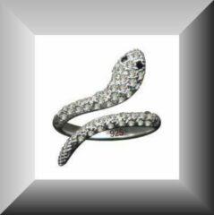 Hetty'S Prachtige slangenring van echt zilver met CZ