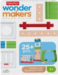 Mattel Fisher-Price Wonder Makers Build It Up Uitbreidingsset - Houten Bouwset