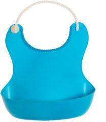 By Vicky Zachte plastic slab van siliconen - mooi babycadeau - slab met gootje / gootslab - blauw