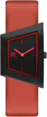 Zwarte Danish Design watches edelstalen dameshorloge Squeezy Black Red IV20Q1207