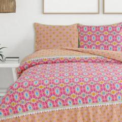 Roze Happiness Dekbedovertrek Zosia - Katoen-percal - no.8060 - Oranje Maat: 240x220cm
