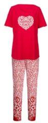Schlafanzug Simone rot/ecru