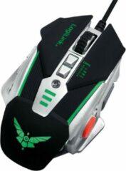 Zilveren LogiLink ID0156 muis USB Type-A Optisch 3200 DPI Rechtshandig