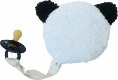 Witte LOVEissue speenknuffeltje teddy/beer panda   BIBS fopspeen black T1   0 tm 6 mnd