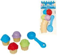 Adriatic 4 Cupcakes Cups + Shovel in Nylon Bag