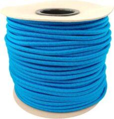 ABC-Led 50 meter Elastisch Touw - Blauw - 8mm - elastiek op rol