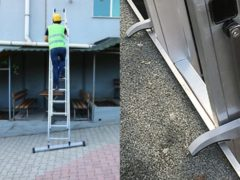 Smart Level Ladder / Cagsan Smart Level Ladder Pro met Leveling Systeem en met Topsafe Systeem 2 x 10 treden