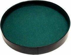 Hotsports Dobbelpiste rond zwart vinyl met groen vilt 26cm.