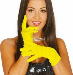 Fiestas Guirca Handschoenen Amarillos 20 Cm Polyester Geel