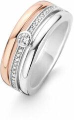 Ti Sento Milano Ti Sento-Milano 12094ZI Ring met zirconia zilver- en rosekleurig Maat 52