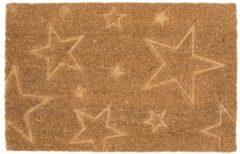 Kokos-Fußmatte Sterne miaVILLA Natur
