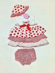 Rode Merkloos / Sans marque Sweet Elegance Jurk Maat 62/68