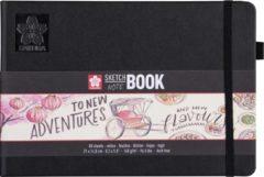 Creme witte Sakura schets/notitieboek - A5 - crème wit