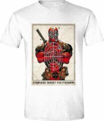 Witte Deadpool Heren T-shirt Maat L
