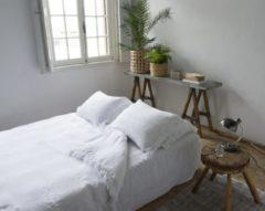 Witte Passion for Linen Dekbedovertrek Loulou White King size dekbedovertrek 260 x 220 + 40 cm