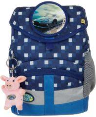 School-Mood Kindergartenrucksack Kiddy Auto School-Mood 96706 karo blue