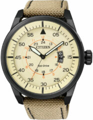 Bruine Citizen Eco-Drive heren horloge - 45