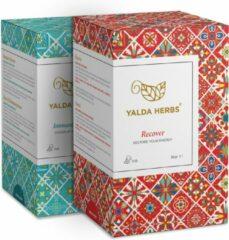 Combipack van Recover en Immune Booster- 2 Doosjes van Yalda herbs kruidenthee, 36 piramide Theezakjes. Yalda Herbs-thee