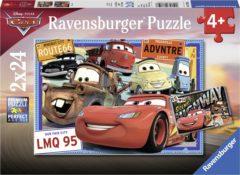 Ravensburger puzzel Disney Cars - Twee puzzels - 24 stukjes - kinderpuzzel