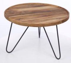 Beistelltisch aus Recyceltem Holz/ Metall Index Living Indo Mix