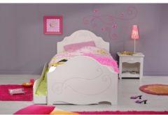 Einzelbett mit Nako und Schubkasten 'Alice 3' Weiß Parisot Weiß