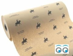 Zwarte Kadoonline etiketten Sinterklaas inpakpapier - kraft - 150 meter x 50 cm