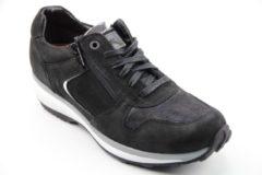 Xsensible Stretchwalker Vrouwen Sneakers - Jersey 30042 - Zwart - Maat 36