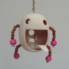 Roze Tok-tok.nl Houder keramiek rose waxinelichtje/wierook