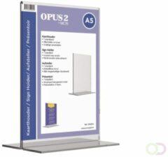 Transparante Kaarthouder T-standaard OPUS 2 A5 acryl