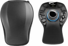 3Dconnexion SpaceMouse Pro WiFi-muis Radiografisch Ergonomisch, Verlicht, Display, Extra grote toetsen, USB-hub, Polssteun Zwart