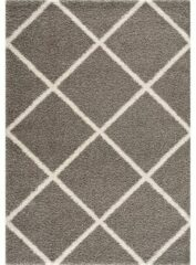 Impression Madrid Shaggy Design Vloerkleed Grijs Hoogpolig- 120x170 CM