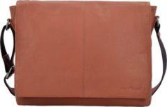 Greenburry Pure Messenger Umhängetasche Leder 34 cm Laptopfach