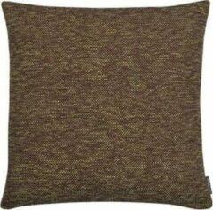 The Cushion Shop Melange - Sierkussen - 44x44 cm - Bruin/Lime
