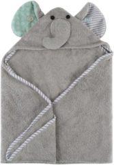 Grijze Zoocchini Baby Badcape - 100% katoen - Elli the Elephant