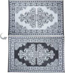 Grijze Esschert design Tuintapijt - Perzisch - zwart/wit - 180x120cm