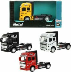 Toi Toys BV Vrachtwagen Truck Cabin Metal Pull Back (Geel) 12 cm Toi Toys - Modelauto - Schaalmodel - Model auto