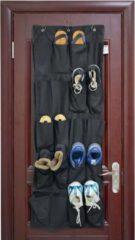 Hangende Deur Schoenenzak voor 10 paar Schoenen - Opbergen van Schoenen aan Deur - Schoenenkast - Schoenenzak - Schoenen oragnizer - Schoenenzak - Schoenen Opbergsysteem - Kleur: Zwart - Decopatent®